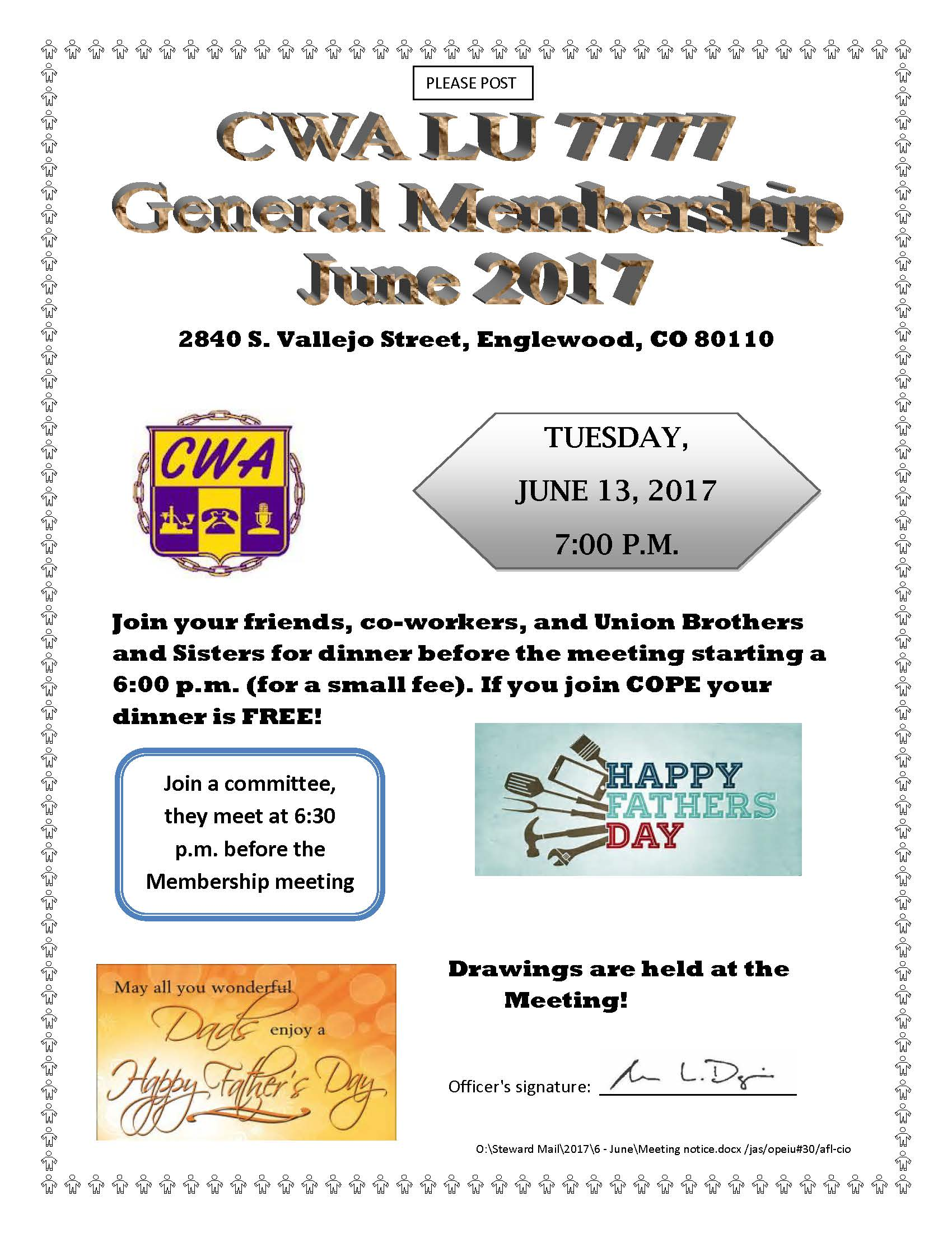General Meeting Notice June 2017